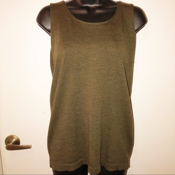 Eileen Fisher Tops - Eileen Fisher Wool Tank Olive Green Small